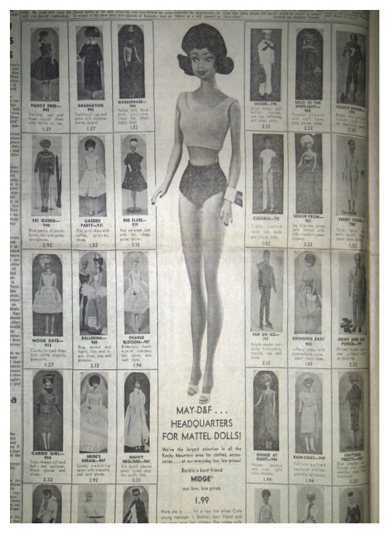 1963 May D&F newspaper ad