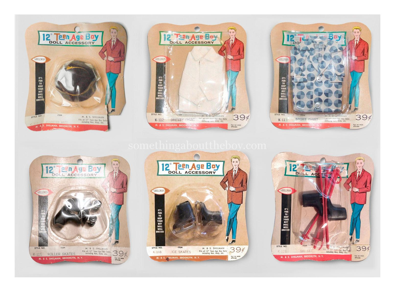 "12"" Teen Age Boy accessory sets by M&S Shillman"