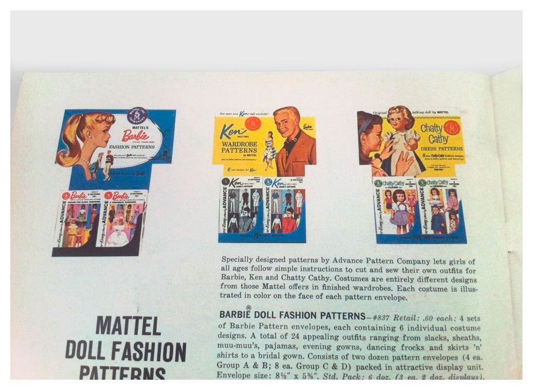 From 1962 Mattel Dolls For Fall '62 catalogue (1st edition)