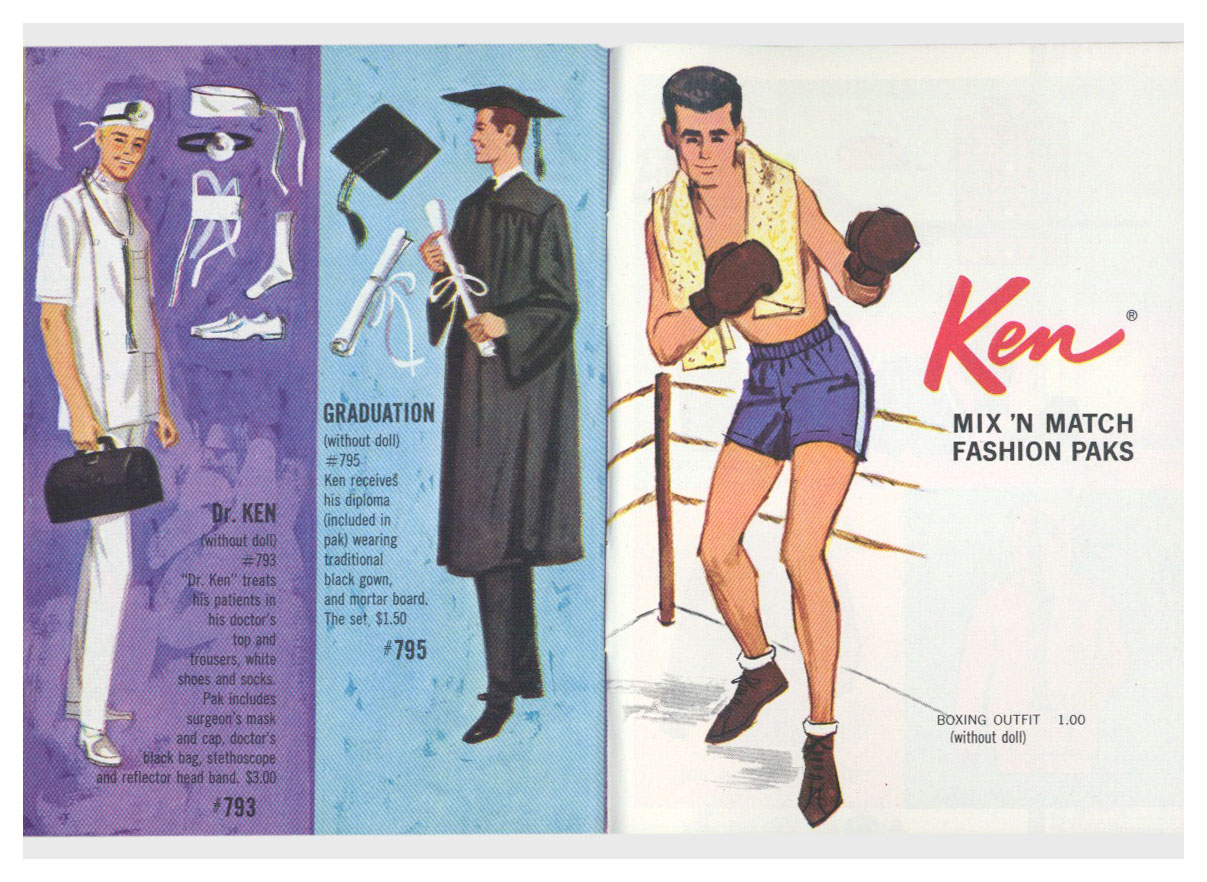 From 1963 Barbie Ken blue booklet