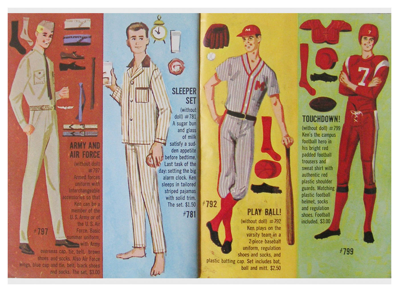 From 1963 Barbie Ken white booklet