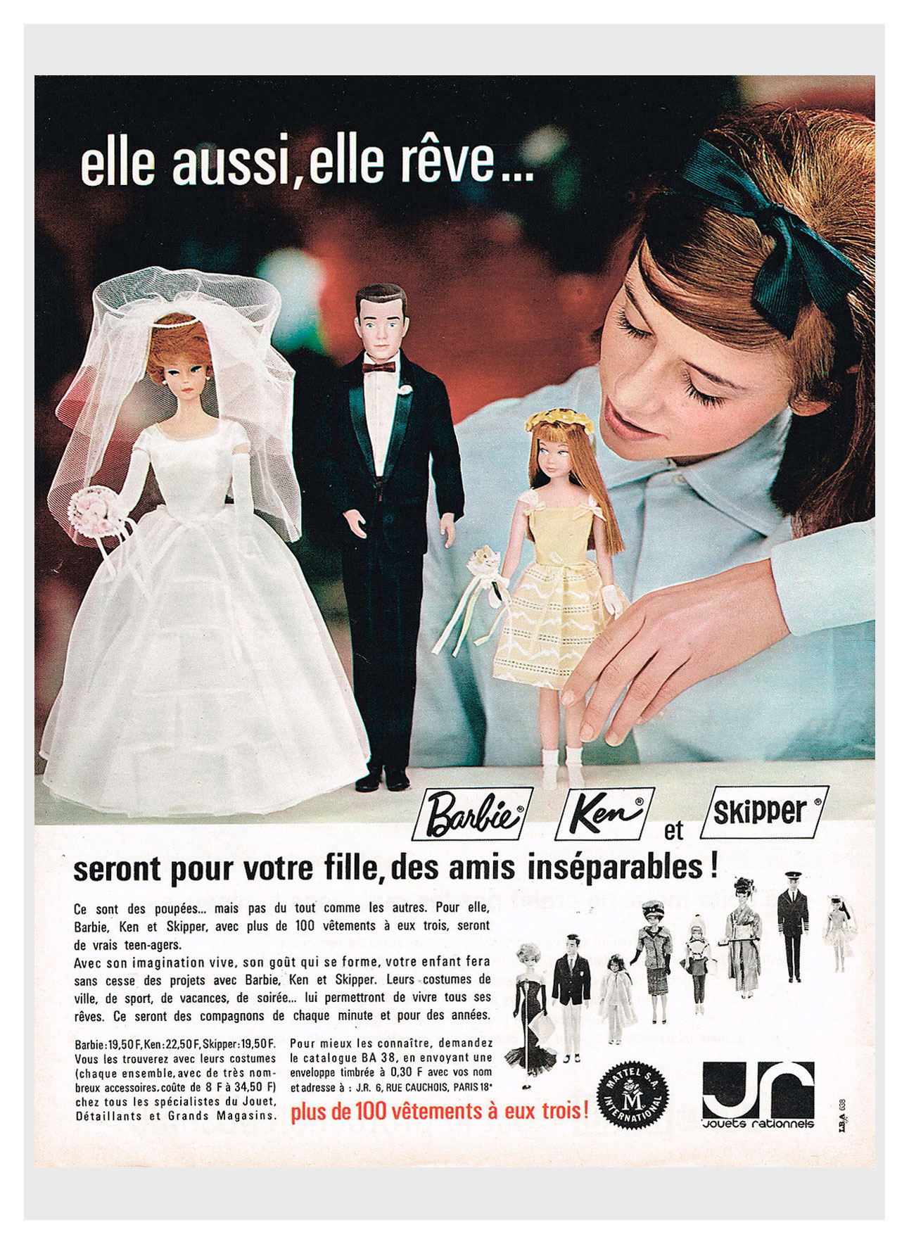 1964 French Barbie advertisement