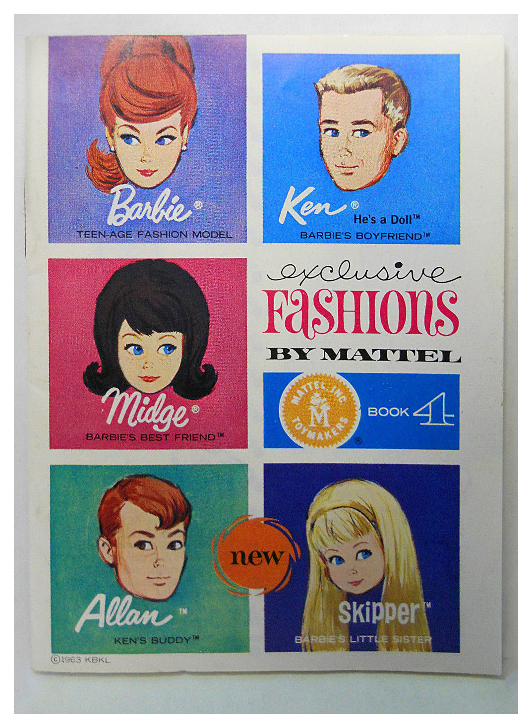 1964 Barbie Ken Exclusive Fashions booklet book 4