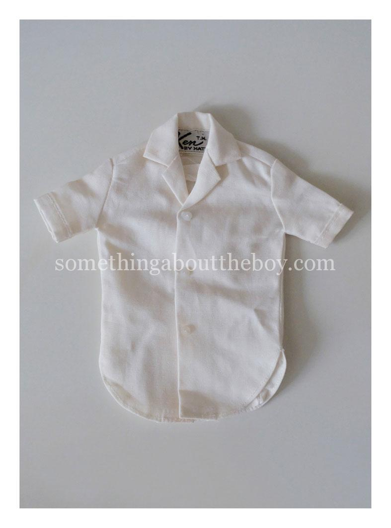 1964 white short-sleeve shirt