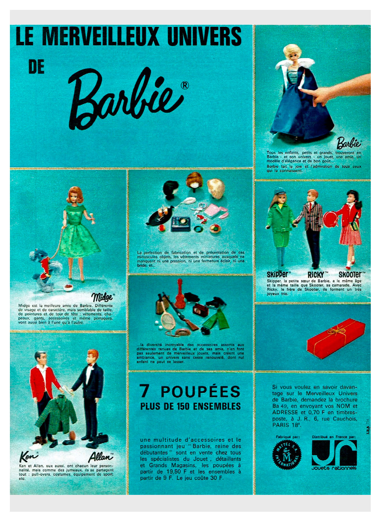 1965 French Jouets rationnels advertisement