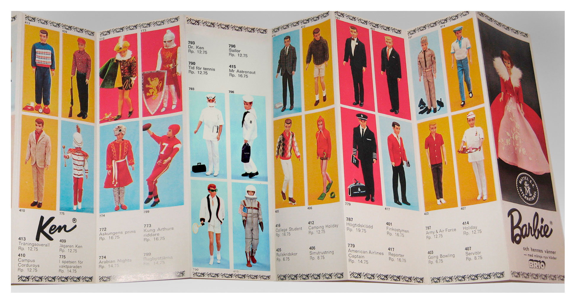 1965 Swedish Mattel Brio Barbie booklet