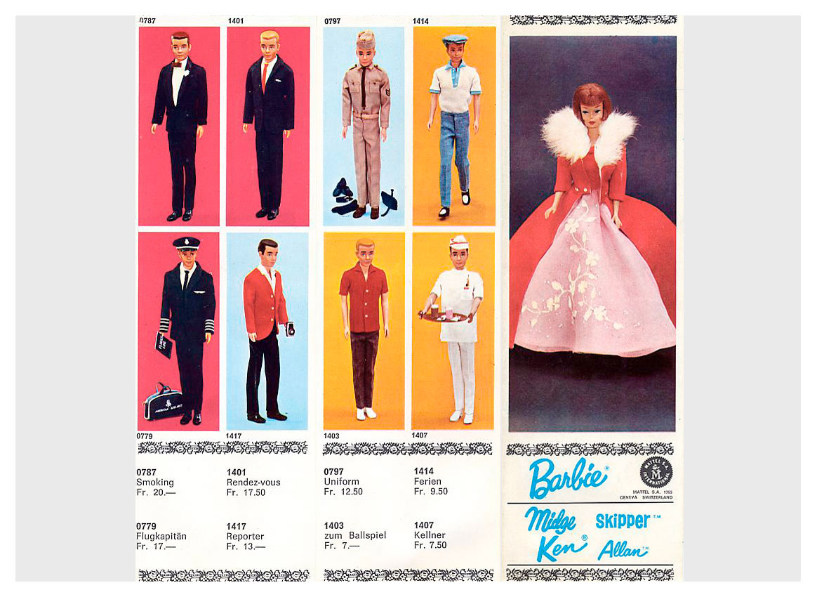 1965 Swiss Mattel Barbie booklet