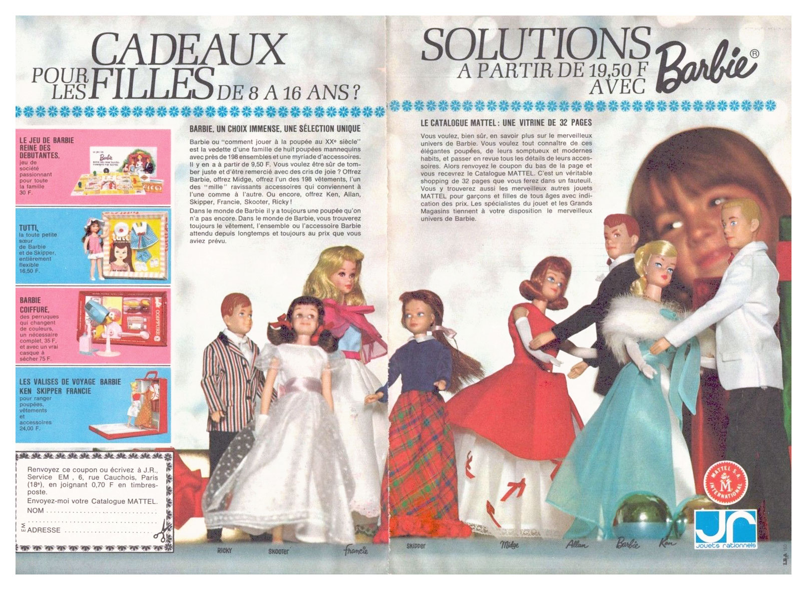 1966 French Barbie advertising feature