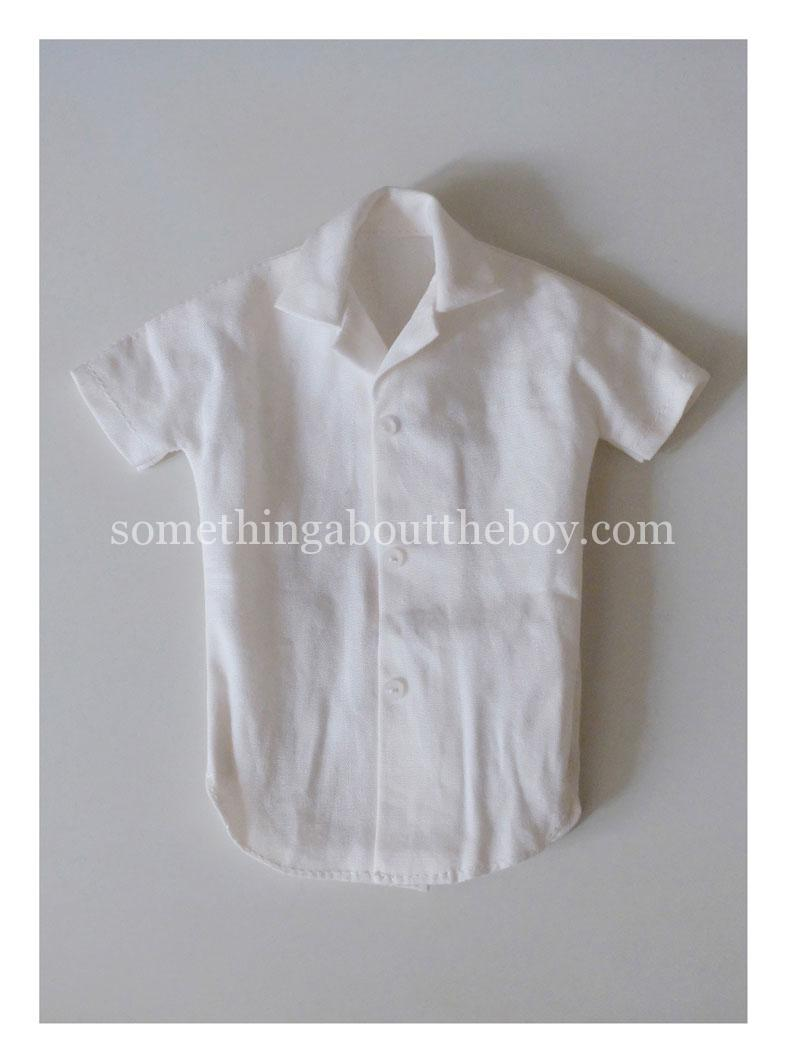 1965-6 white short-sleeve shirt