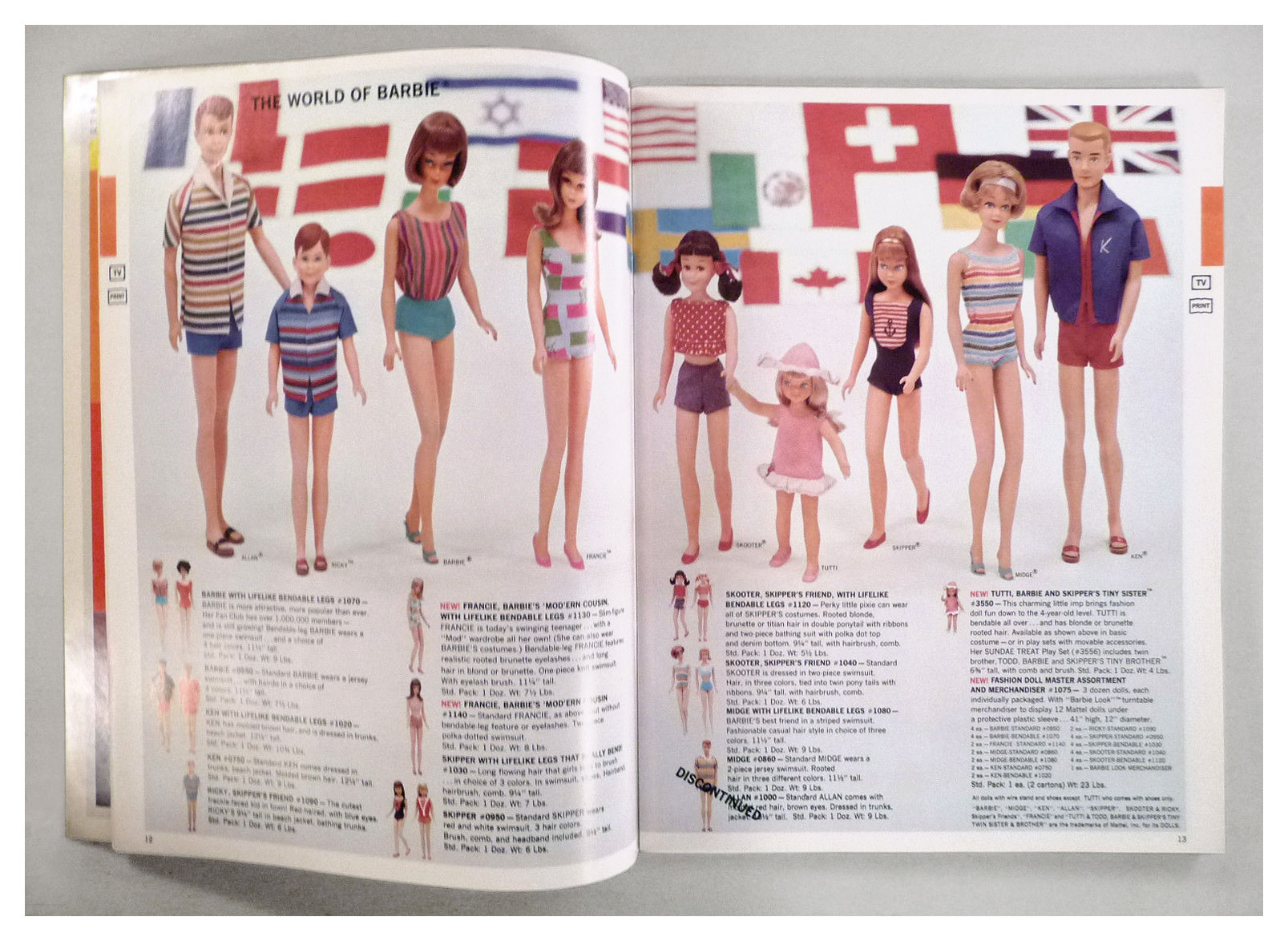 Mattel Toys 1966 catalogue