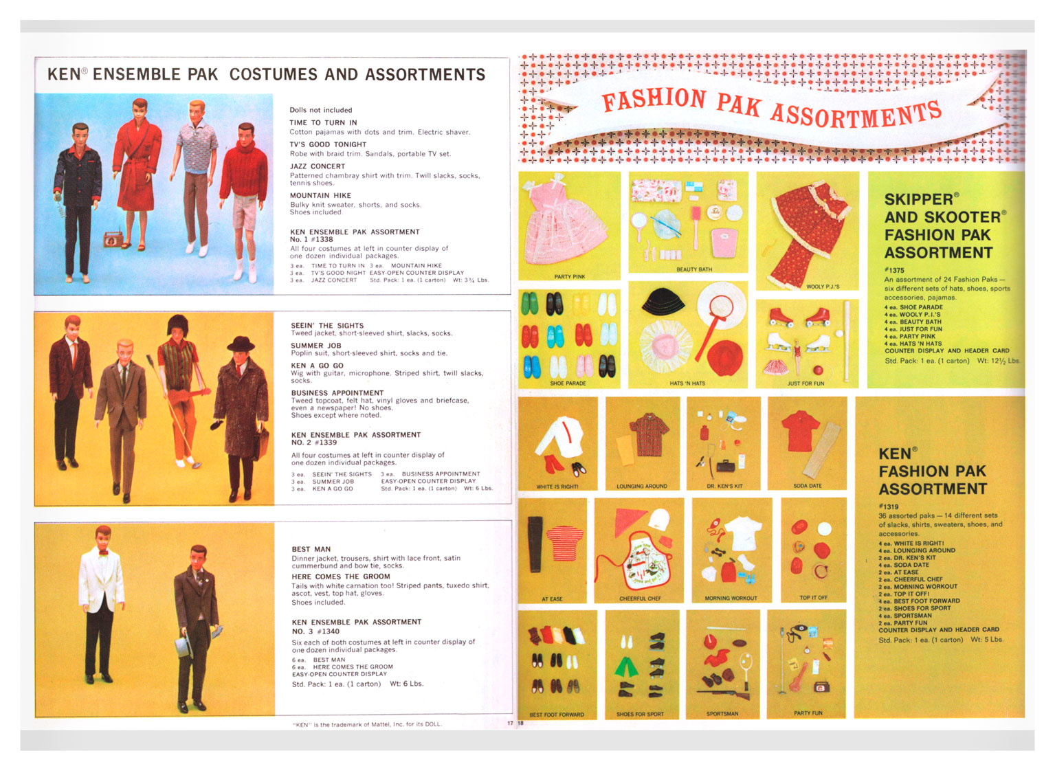 From 1967 Mattel Toys (blue) catalogue