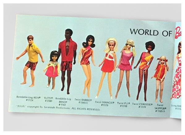 1971-72 The Lively World of Barbie booklet