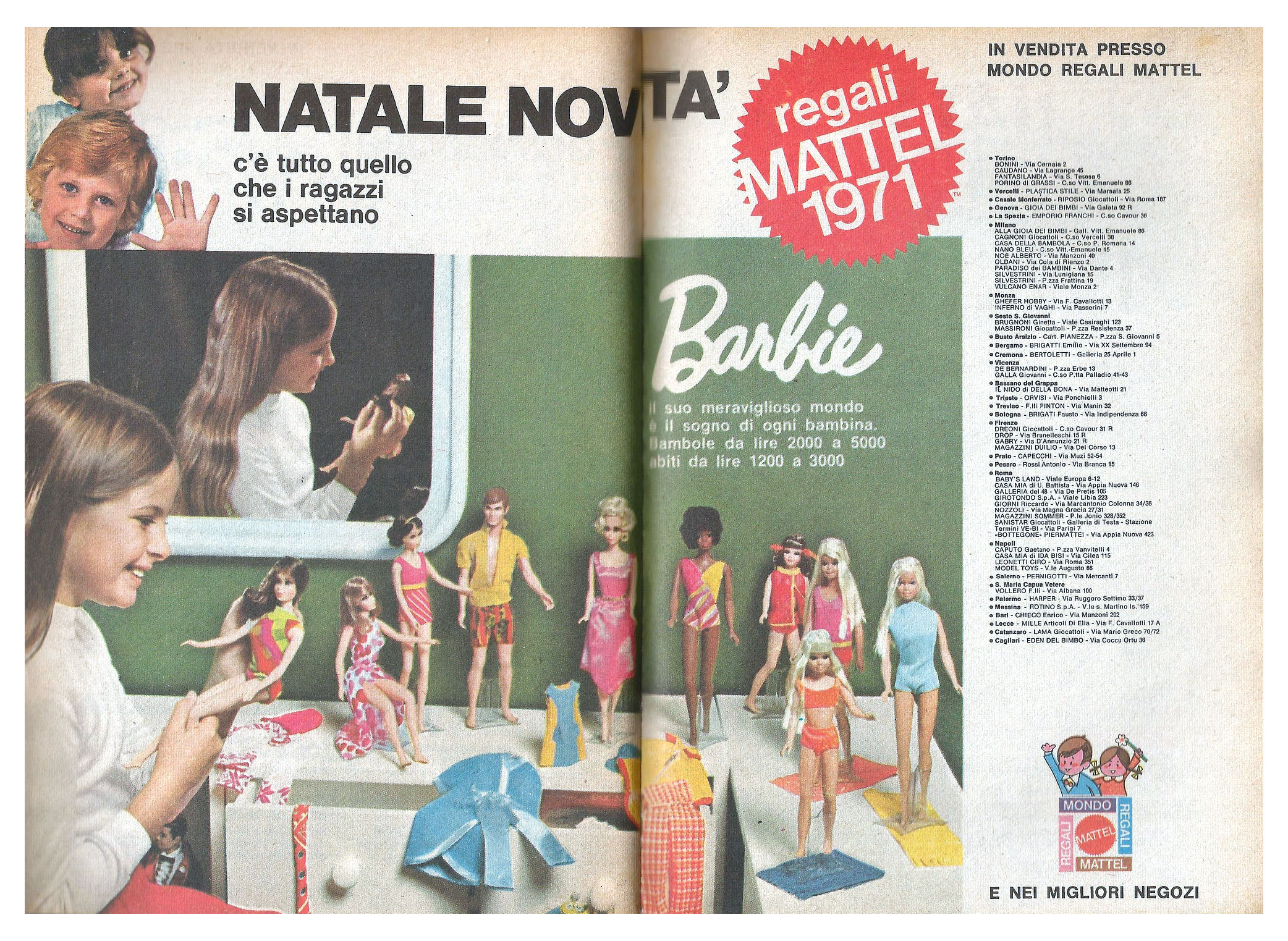 Advertisement from 1971 Italian Topolino maagzine