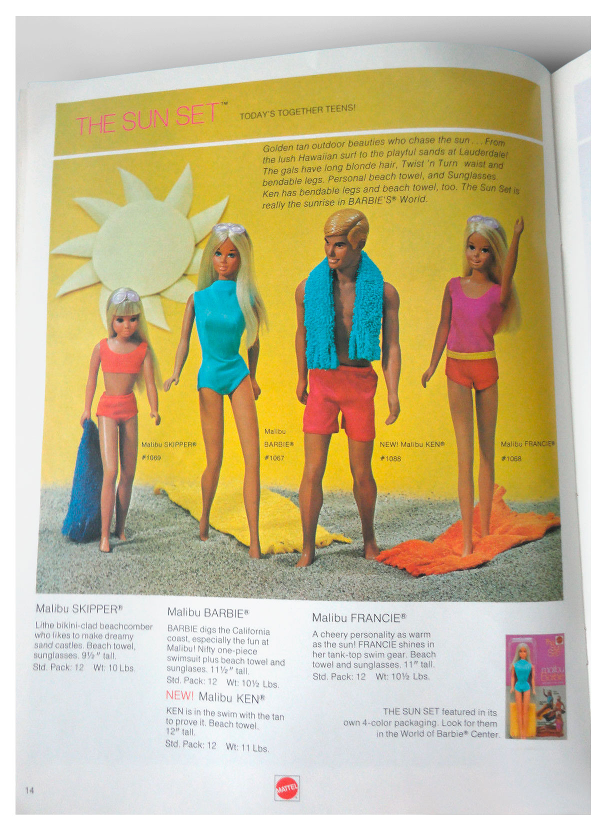 From Mattel Dolls '71 catalogue