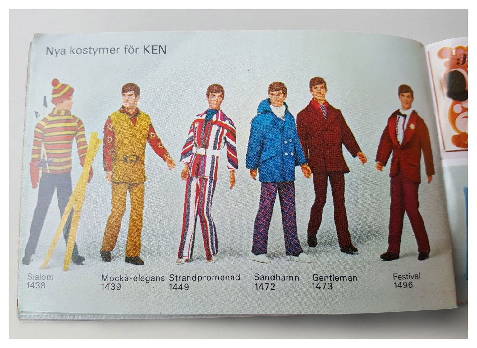From 1971 Swedish Barbie booklet