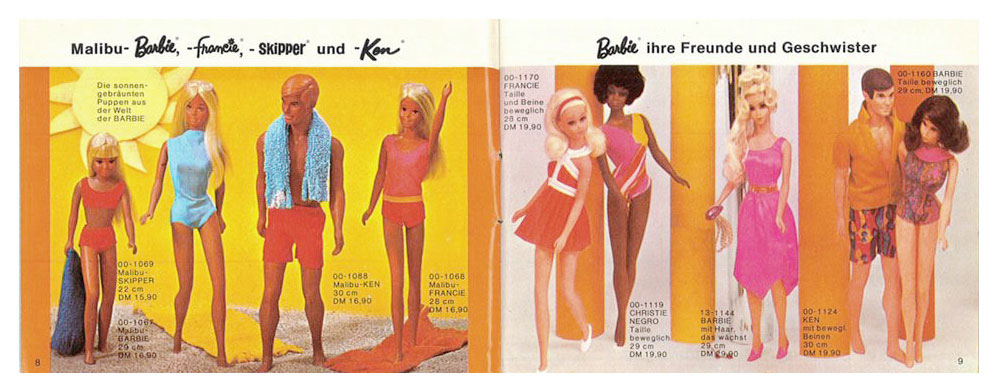 From 1972 German Barbie booklet