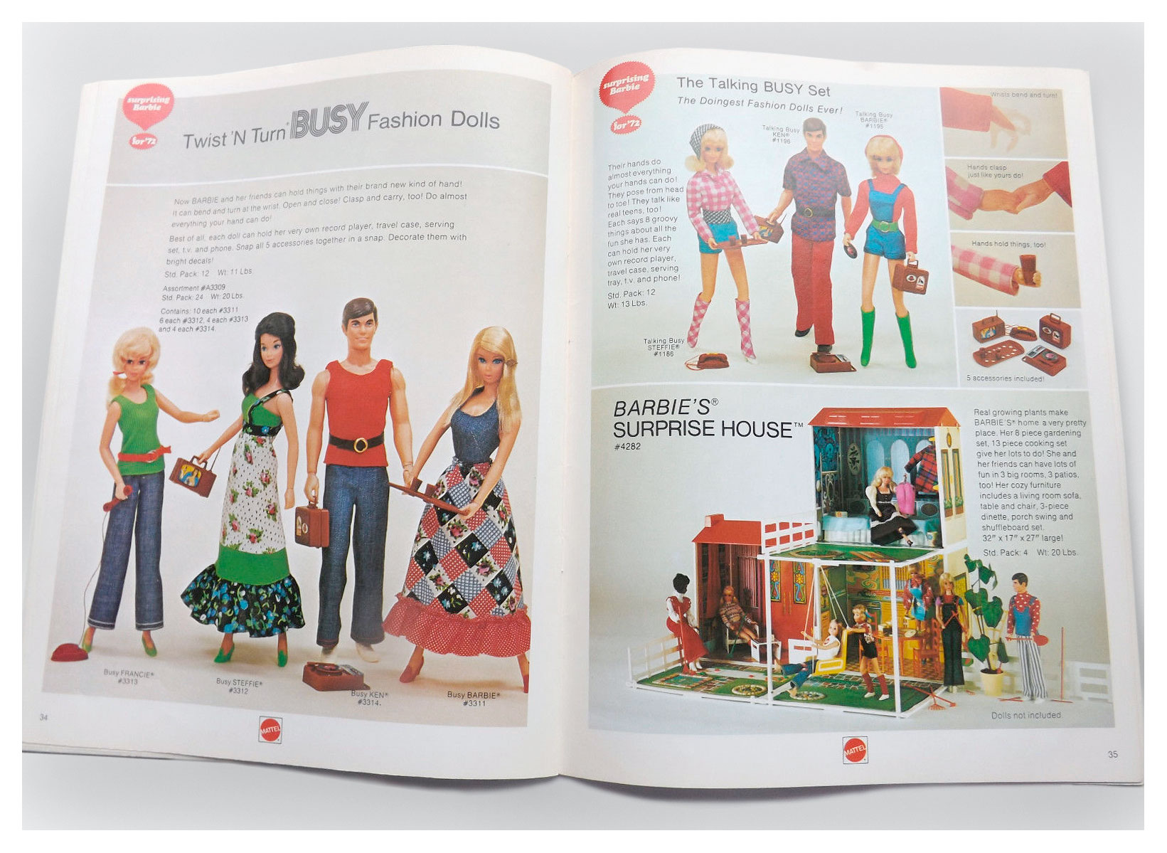From 1972 Mattel Dolls and Preschool catalogue