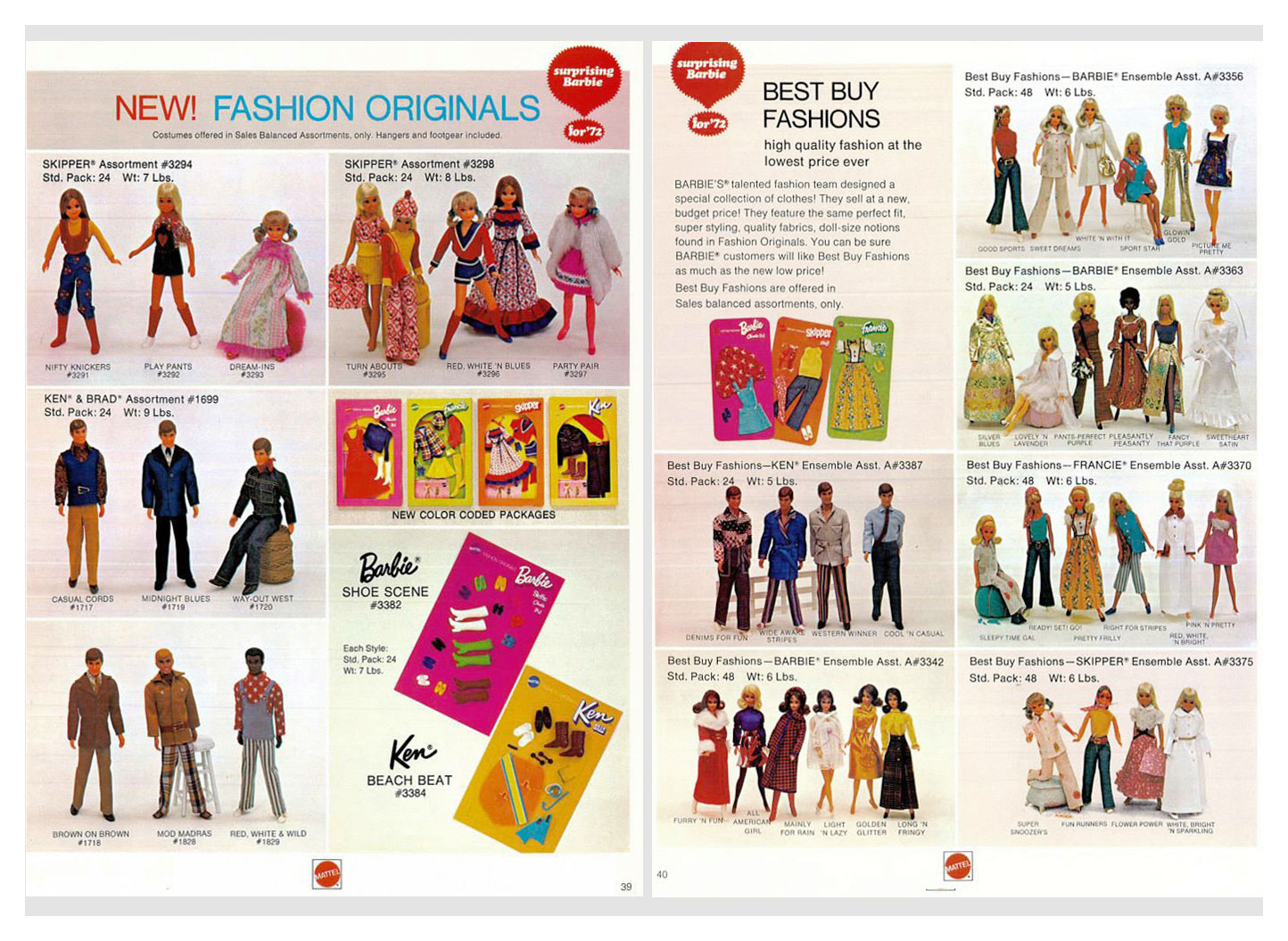 From 1972 Mattel Dolls & Preschool catalogue