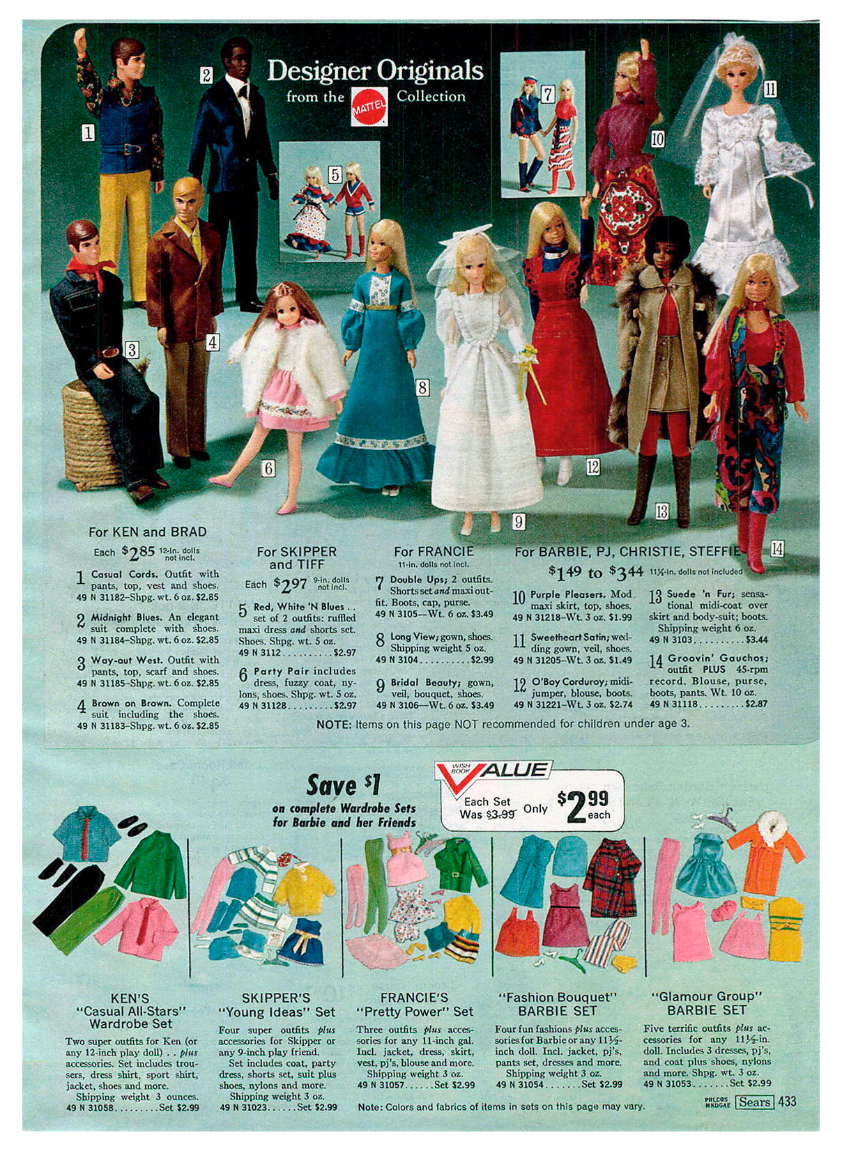 From 1972 Sears Christmas Wish Book