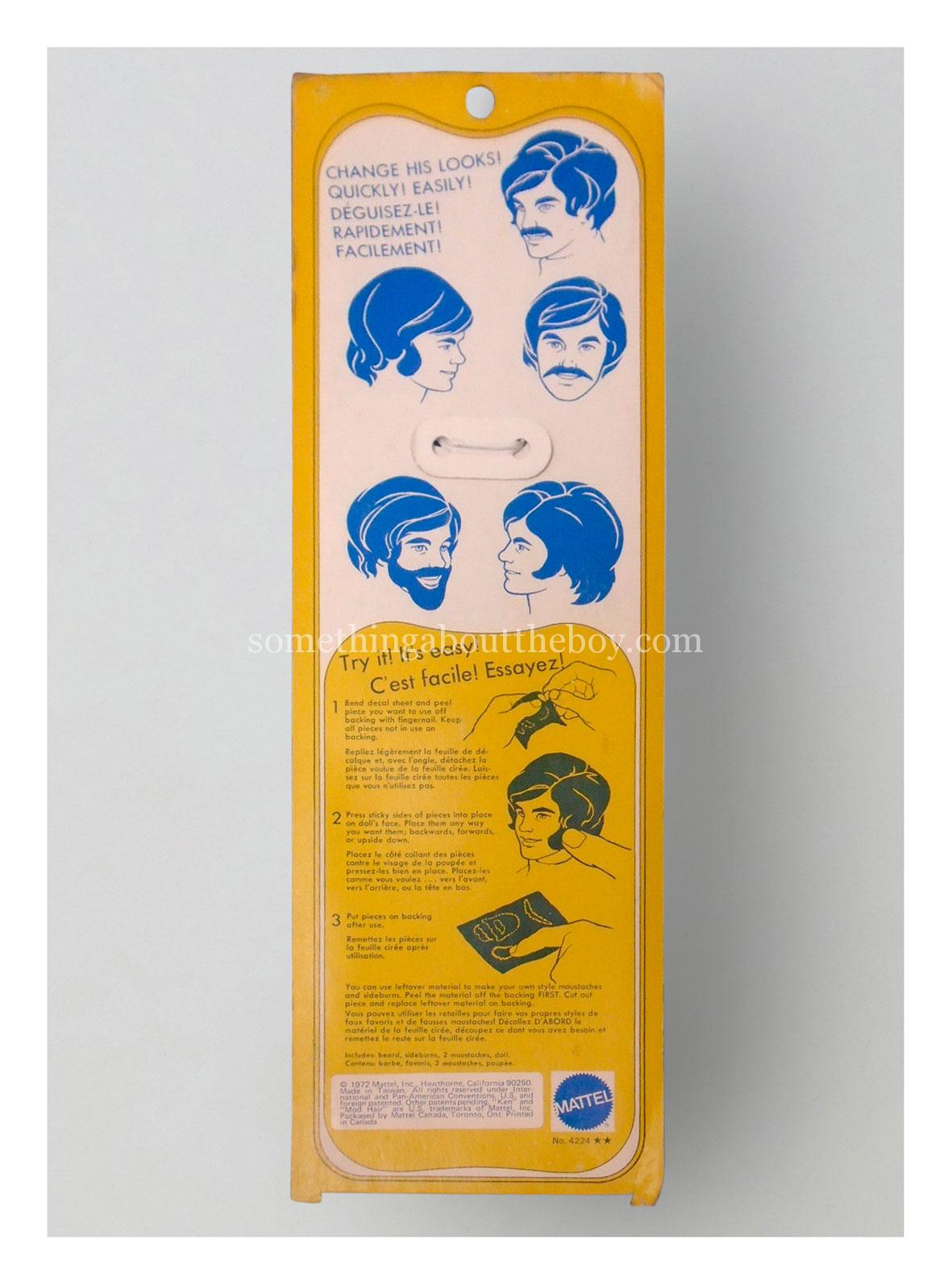 1973 #4224 Mod Hair Ken Canadian version (Made in Taiwan)