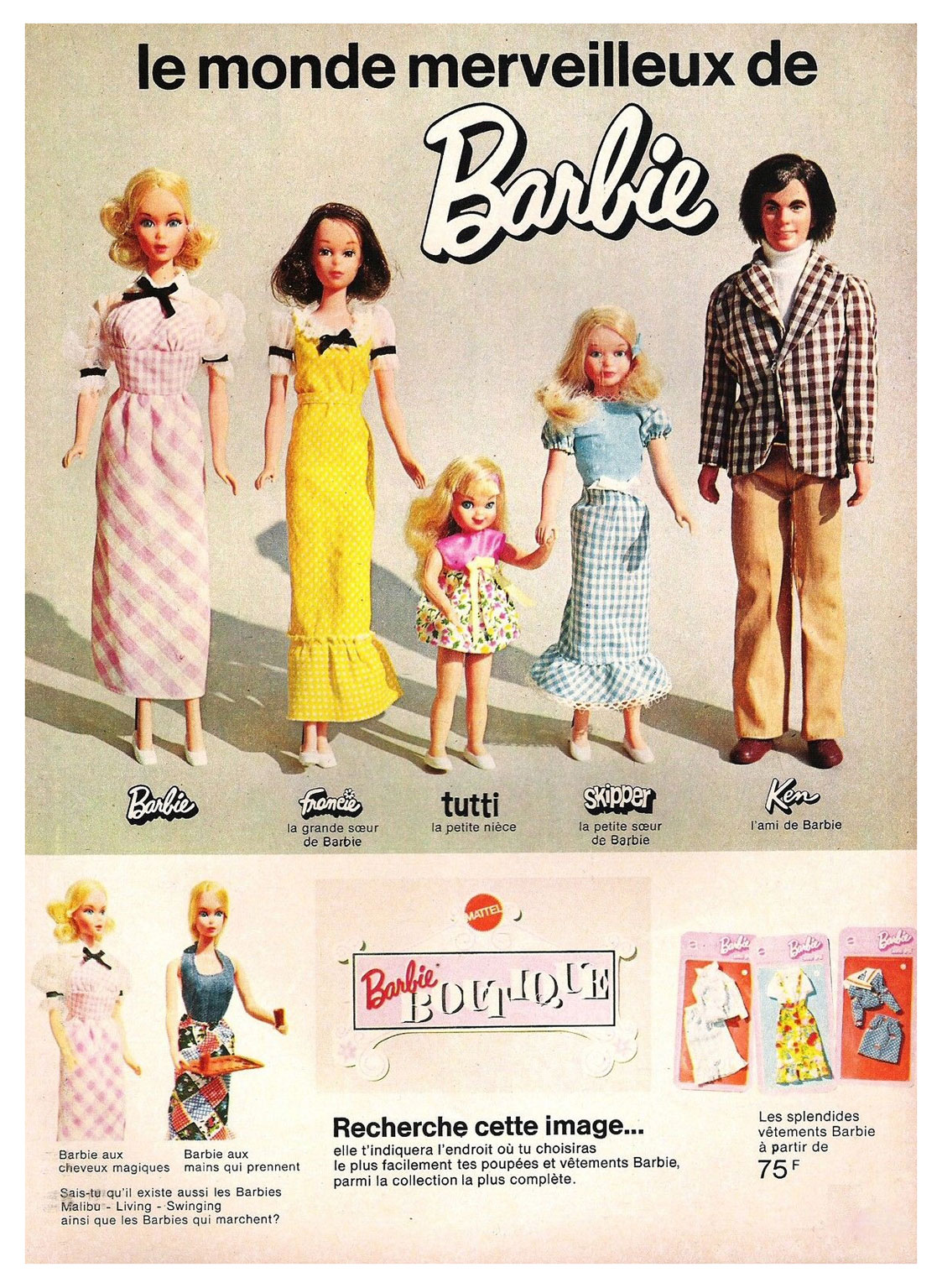1973 French Barbie advertisement