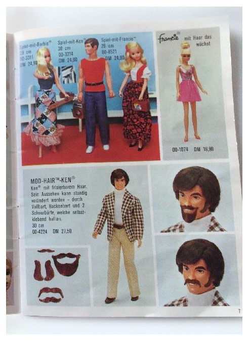From 1973 German Barbie booklet
