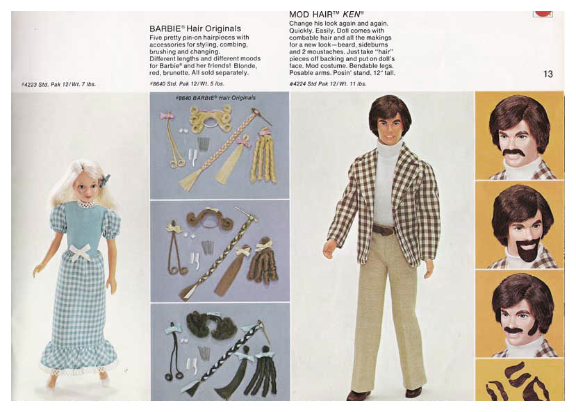 From 1973 Mattel Toys Spring Introductions catalogue