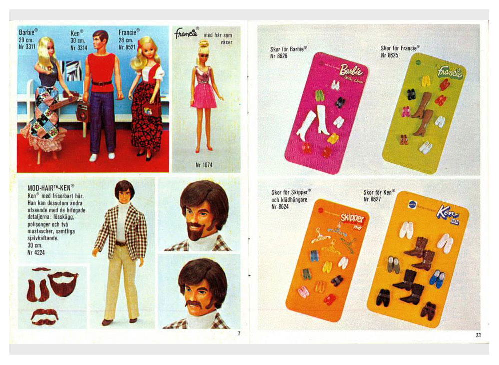 From 1973 Swedish Barbie booklet