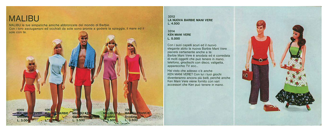 From 1974 Italian Barbie booklet