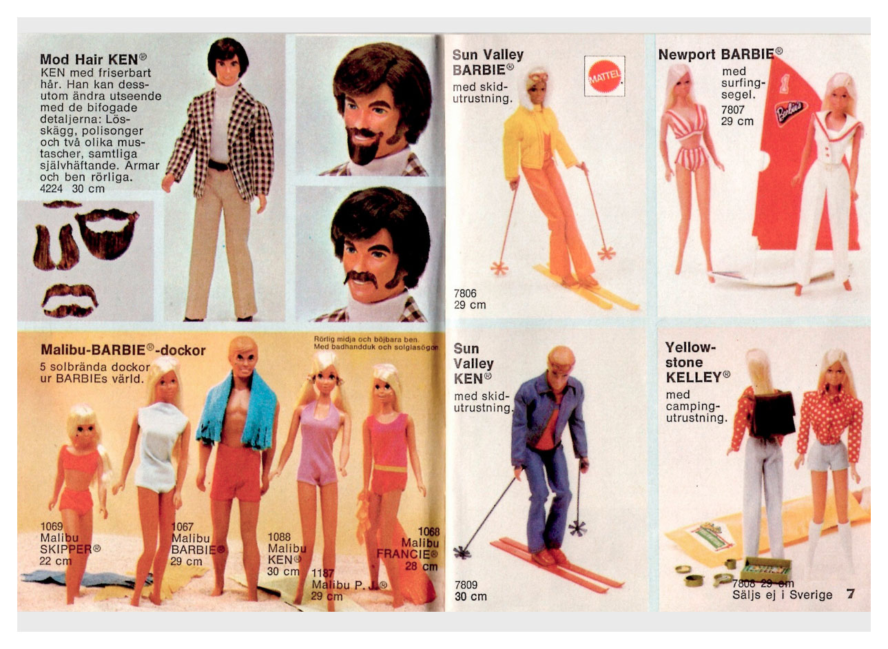 From 1974 Swedish Barbie booklet