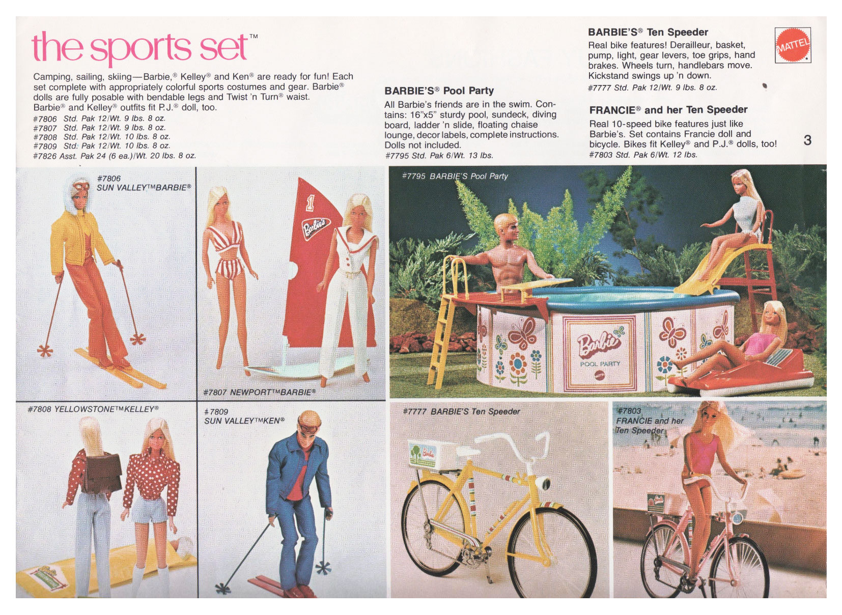 From Mattel Toys '74 Spring Introductions catalogue