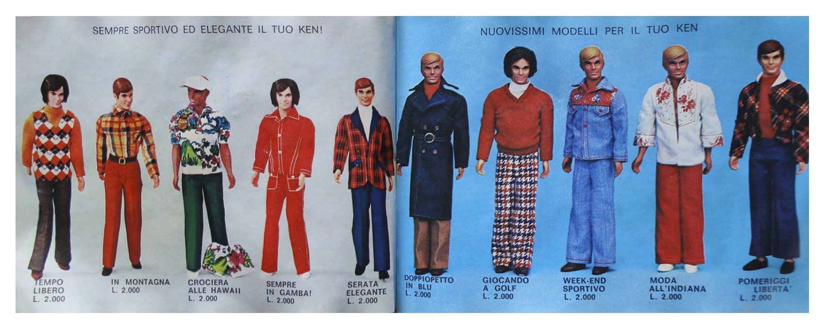 From 1975 Italian Barbie booklet