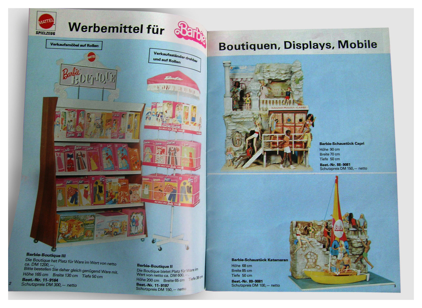 From 1976 Mattel Werbemittel catalogue