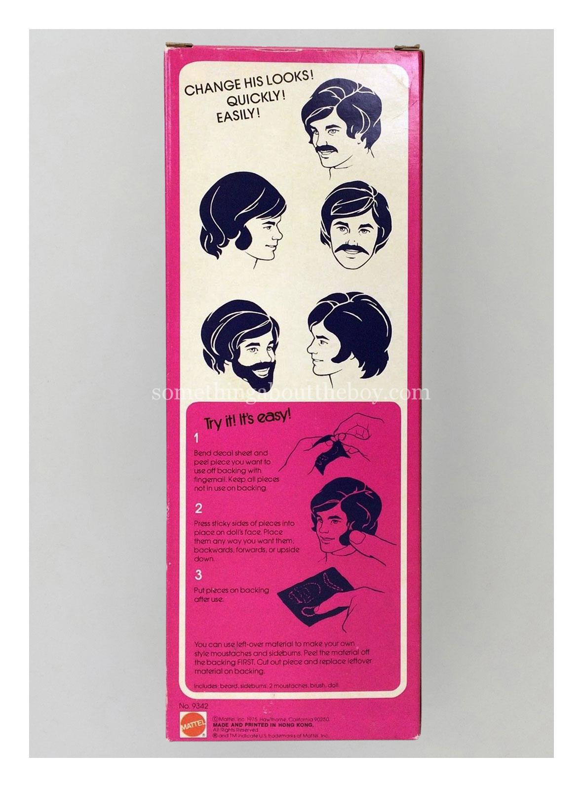 1976 #9342 The Now Look Ken original packaging