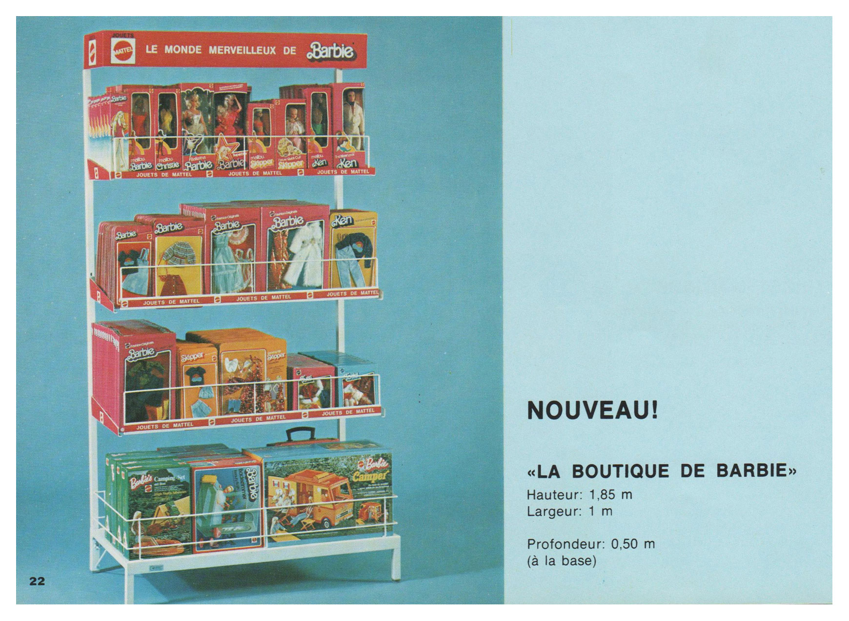 From 1977 French Mattel Toy catalogue