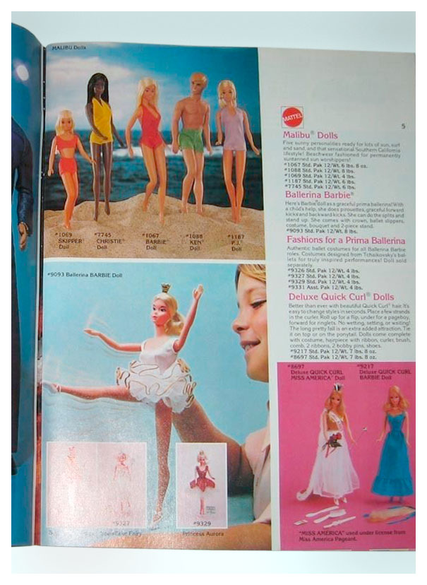 From 1978 Mattel Dimension catalogue
