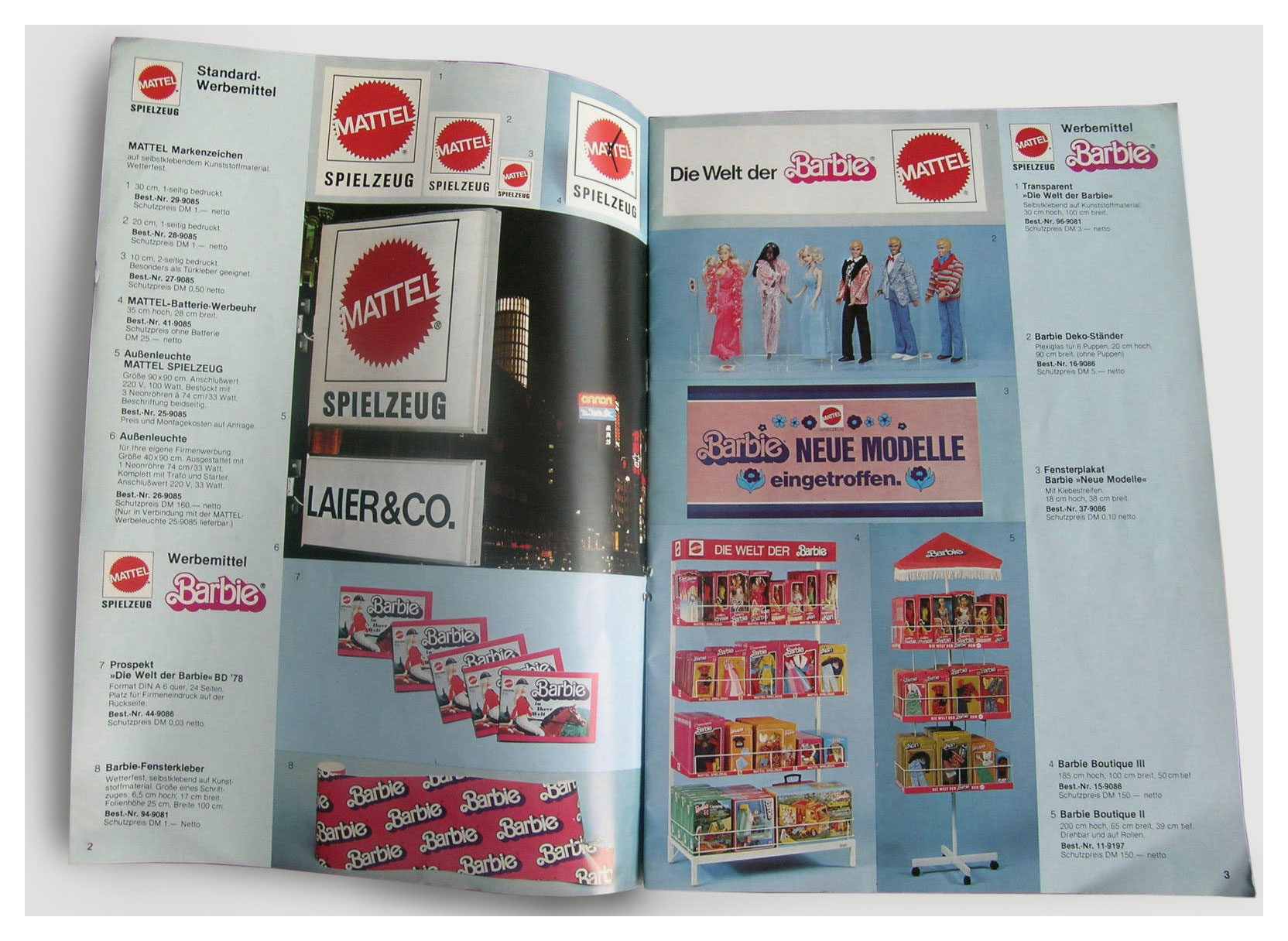 1978 Mattel German Werbemittel catalogue