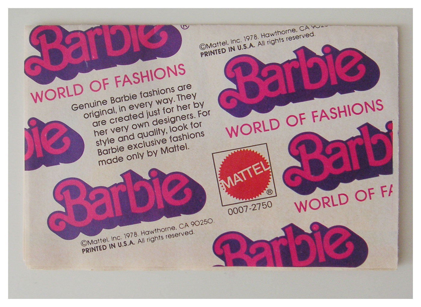 1978 World of Fashions booklet