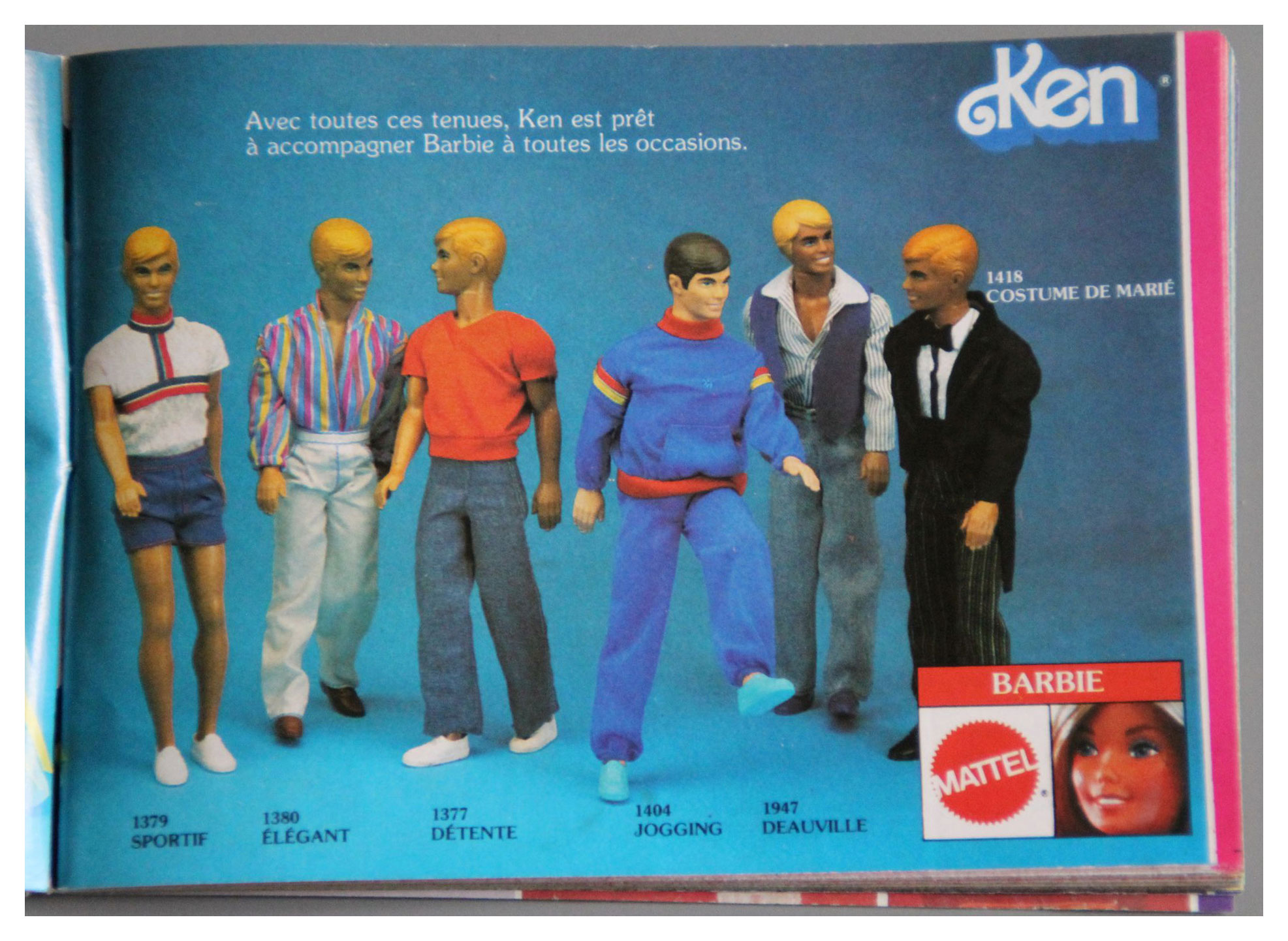 From 1981 French Mattel booklet