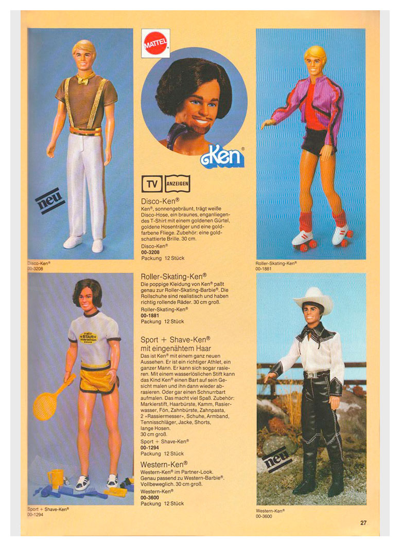 From 1981 German Mattel Toys catalogue