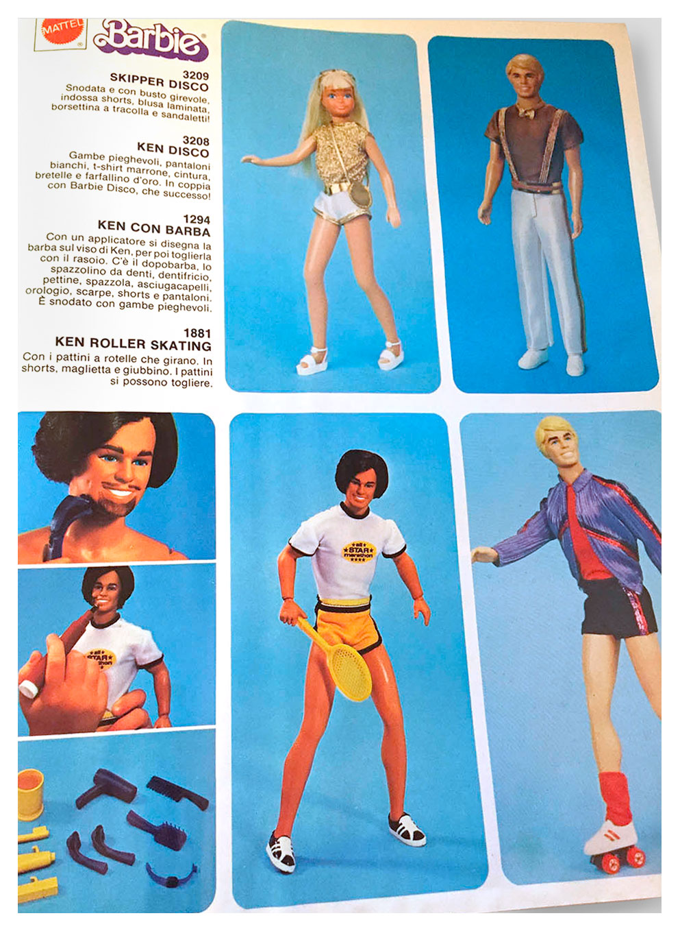 From Italian Mattel Giocattoli 1981 catalogue