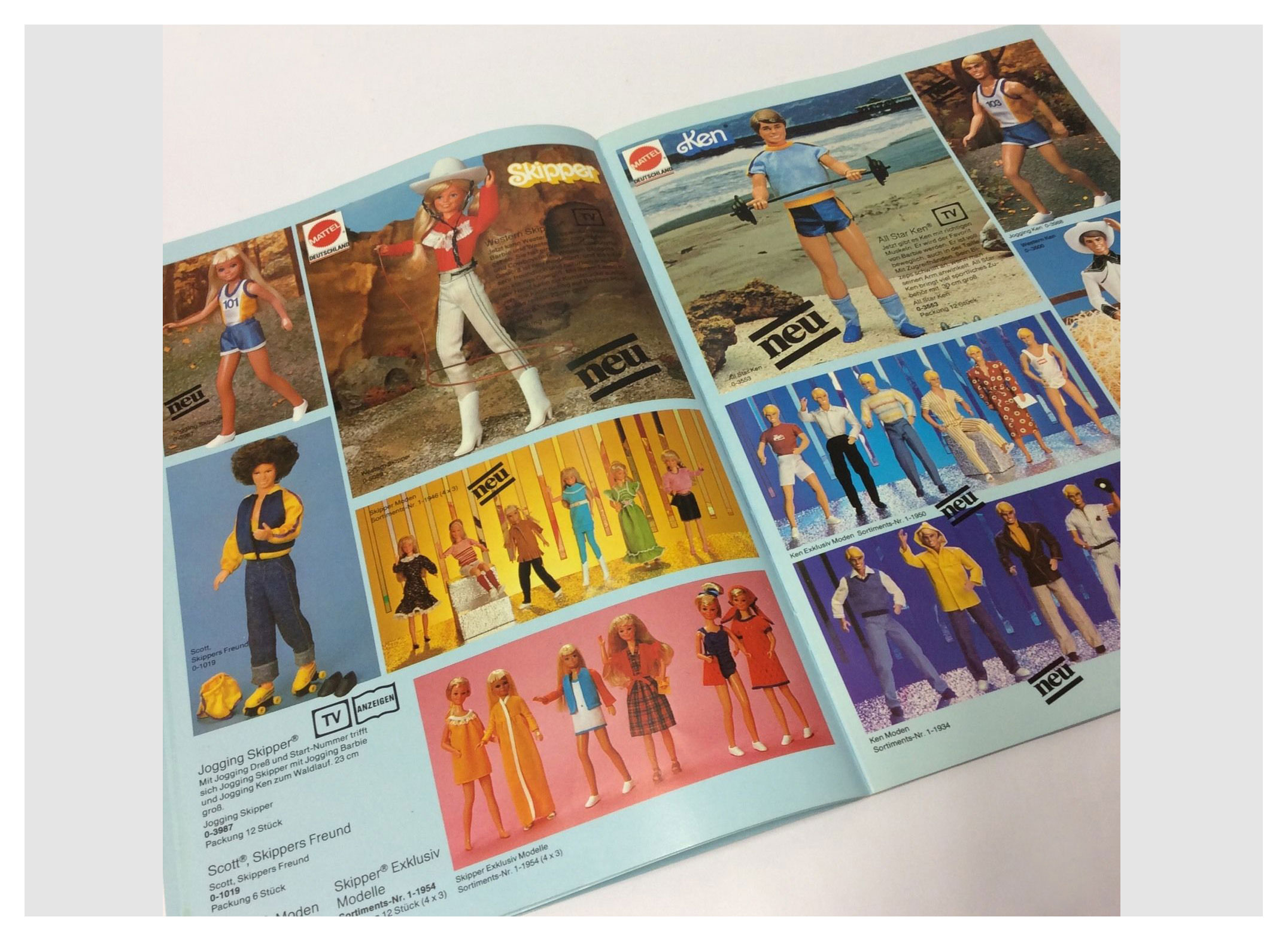 From 1982 German Mattel catalogue