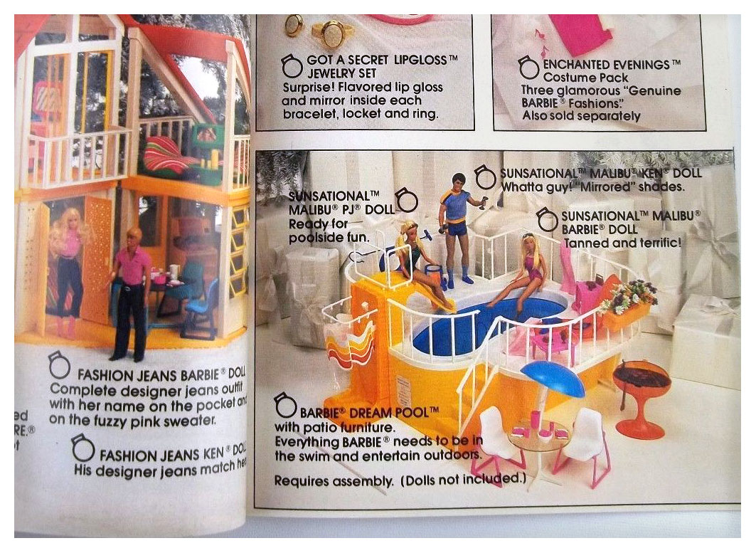From 1982 Mattel Wish List brochure
