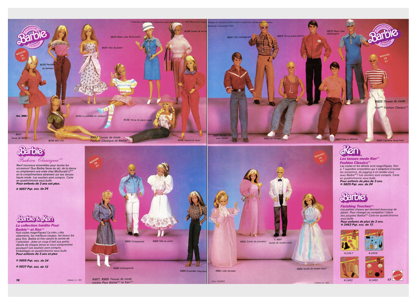 From 1983 Canadian Mattel Toys catalogue