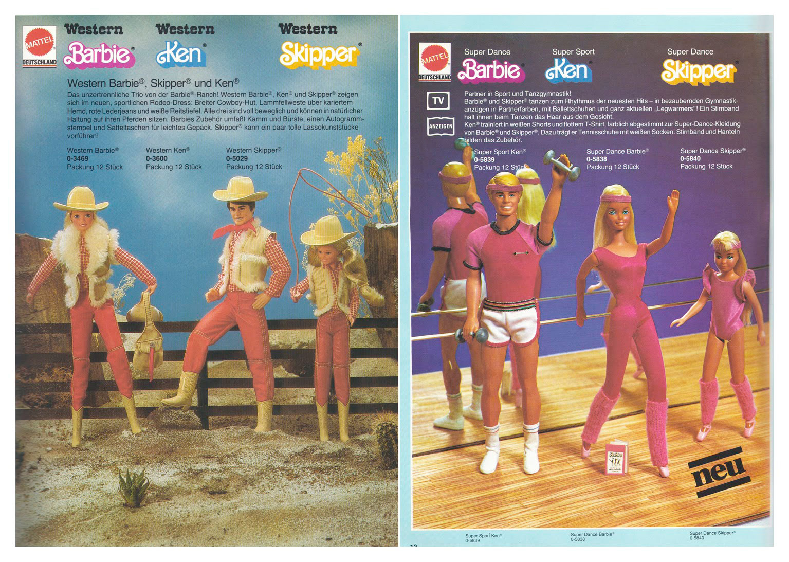 From 1983 German Mattel Toys catalogue