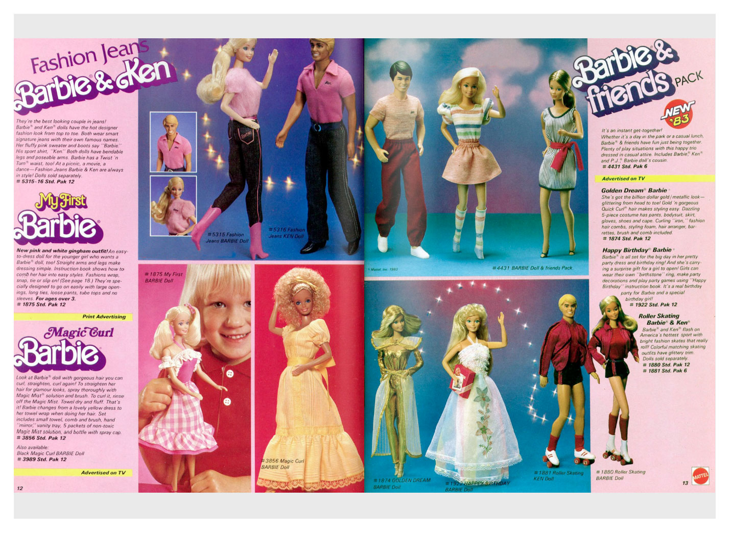 From 1983 Mattel Toys catalogue