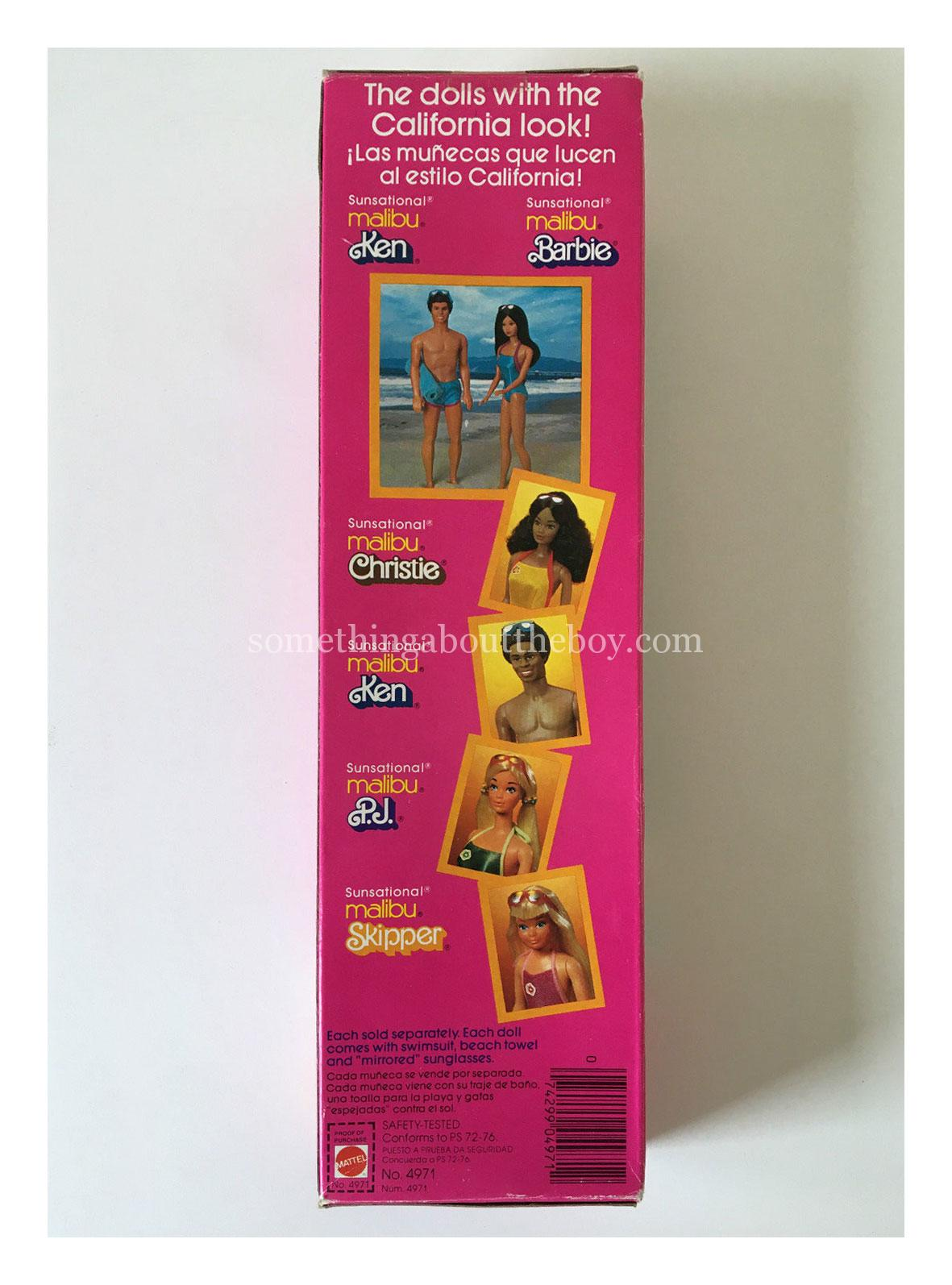 1984 #4971 Sunsational Malibu Ken original packaging