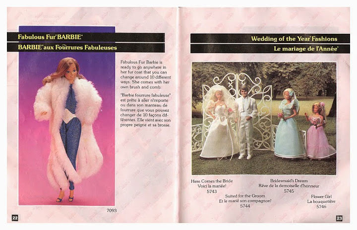 From 1984 Canadian Barbie booklet
