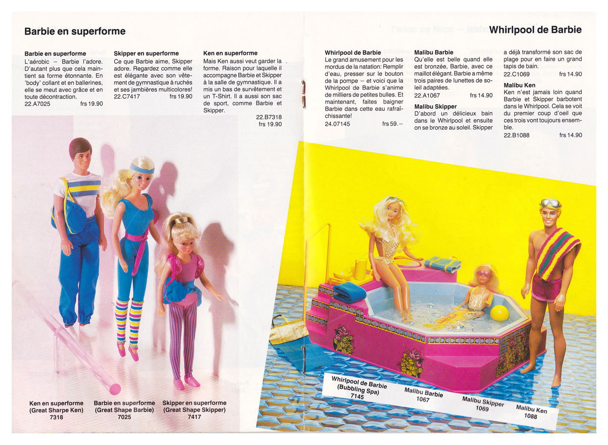 From 1984 French Barbie booklet