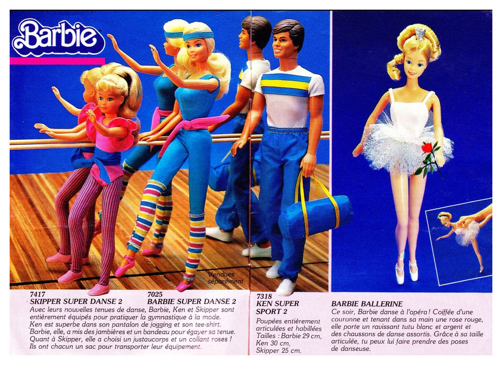 From 1984 French Mattel Preschool Toy catalogue